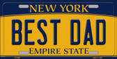 Best Dad New York Background Wholesale Metal Novelty License Plate
