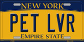 Pet Lvr New York Background Wholesale Metal Novelty License Plate