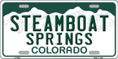 Steamboat Springs Colorado Background Wholesale Metal Novelty License Plate