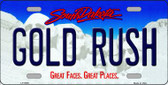 Gold Rush South Dakota Background Wholesale Metal Novelty License Plate