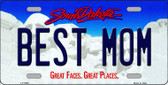 Best Mom South Dakota Background Wholesale Metal Novelty License Plate