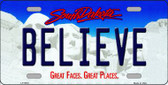 Believe South Dakota Background Wholesale Metal Novelty License Plate