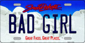 Bad Girl South Dakota Background Wholesale Metal Novelty License Plate