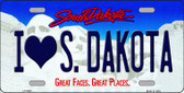 I Love South Dakota Background Wholesale Metal Novelty License Plate