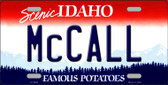 McCall Idaho Background Wholesale Metal Novelty License Plate