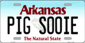 Pig Sooie Arkansas Background Wholesale Metal Novelty License Plate