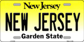 New Jersey Background Wholesale Metal Novelty License Plate