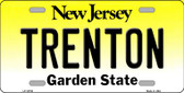 Trenton New Jersey Background Wholesale Metal Novelty License Plate