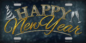 Happy New Year Wholesale Metal Novelty License Plate