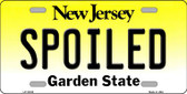 Spoiled New Jersey Background Wholesale Metal Novelty License Plate