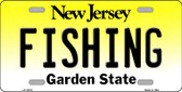 Fishing New Jersey Background Wholesale Metal Novelty License Plate
