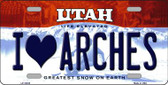 I Love Arches Utah Background Wholesale Metal Novelty License Plate