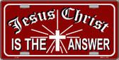 Jesus Christ Is The Answer Wholesale Metal Novelty License Plate LP-237