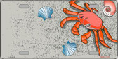 Crab And Seashells Wholesale Metal Novelty License Plate LP-2373