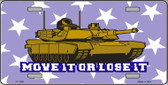 Move It Or Lose It Wholesale Metal Novelty License Plate