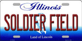 Soldier Field Illinois Background Wholesale Metal Novelty License Plate