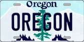 Oregon Background Wholesale Metal Novelty License Plate
