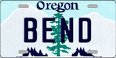Bend Oregon Background Wholesale Metal Novelty License Plate