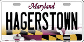 Hagerstown Maryland Background Wholesale Metal Novelty License Plate