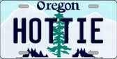 Hottie Oregon Background Wholesale Metal Novelty License Plate