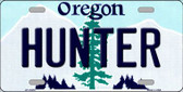 Hunter Oregon Background Wholesale Metal Novelty License Plate