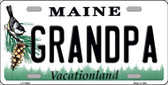 Grandpa Maine Background Wholesale Metal Novelty License Plate