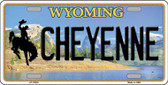 Cheyenne Wyoming Background Wholesale Metal Novelty License Plate