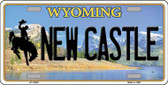 New Castle Wyoming Background Wholesale Metal Novelty License Plate