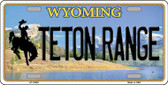 Teton Range Wyoming Background Wholesale Metal Novelty License Plate
