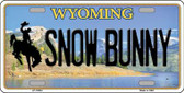 Snow Bunny Wyoming Background Wholesale Metal Novelty License Plate