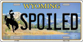 Spoiled Wyoming Background Wholesale Metal Novelty License Plate