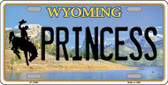 Princess Wyoming Background Wholesale Metal Novelty License Plate