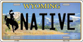 Native Wyoming Background Wholesale Metal Novelty License Plate