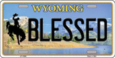 Blessed Wyoming Background Wholesale Metal Novelty License Plate