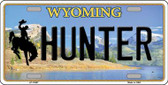 Hunter Wyoming Background Wholesale Metal Novelty License Plate