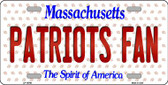Patriots Fan Massachusetts Background Novelty Wholesale Metal License Plate