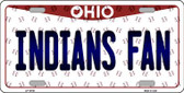Indians Fan Ohio Background Novelty Wholesale Metal License Plate