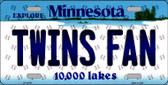 Twins Fan Minnesota Background Novelty Wholesale Metal License Plate