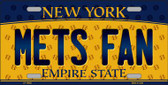 Mets Fan New York Background Novelty Wholesale Metal License Plate