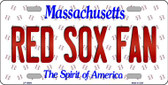 Red Sox Fan Massachusetts Background Novelty Wholesale Metal License Plate