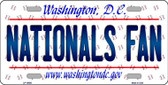 Nationals Fan Washington DC Background Novelty Wholesale Metal License Plate
