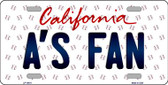 As Fan California Background Novelty Wholesale Metal License Plate LP-10811