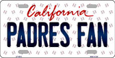 Padres Fan California Background Novelty Wholesale Metal License Plate
