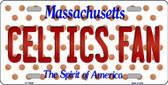 Celtics Fan Massachusetts Background Novelty Wholesale Metal License Plate