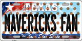 Mavericks Fan Texas Background Novelty Wholesale Metal License Plate