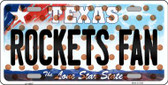 Rockets Fan Texas Background Novelty Wholesale Metal License Plate