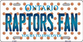 Raptors Fan Ontario Novelty Wholesale Metal License Plate