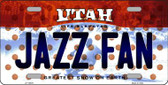 Jazz Fan Utah Novelty Wholesale Metal License Plate