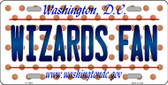 Wizards Fan Washington DC Novelty Wholesale Metal License Plate