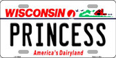 Princess Wisconsin Background Wholesale Metal Novelty License Plate